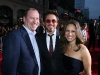Paramount's Rob Moore, Robert Downey Jr. and wife / producer Susan Downey