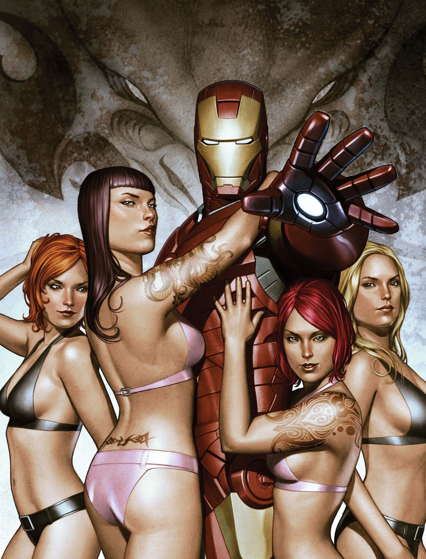 Iron man girls nude