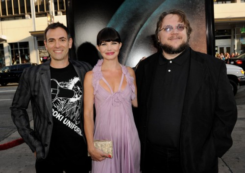 Pictured: Vincenzo Natali, Delphine Chaneac, Guillermo del Toro