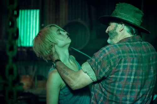 Episode 6 D40 100 Lucy Fry as Eve Thorogood & John Jarratt as Mick Taylor in WOLF CREEK.  A Screentime Production for STAN. Photo Sam Oster
