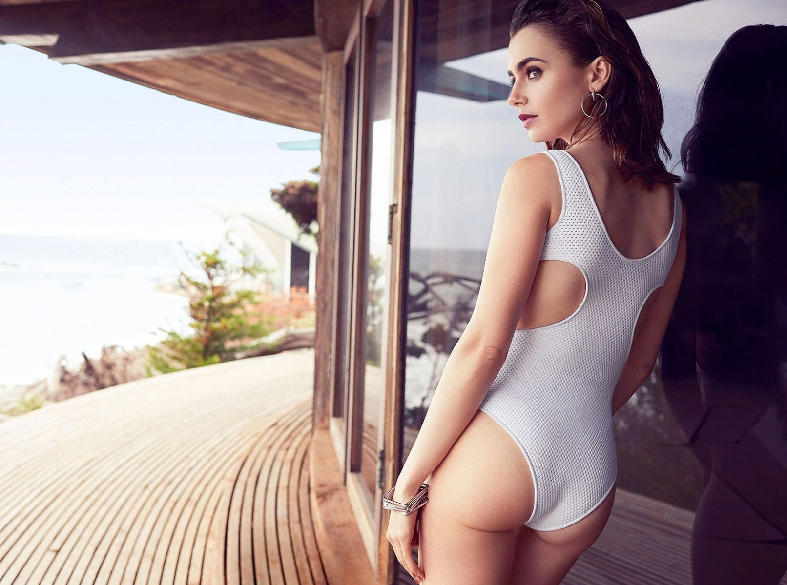 lily collins naked ass